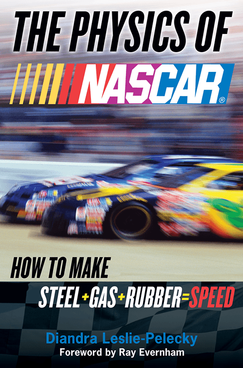 The cover of the paperback copy of The Physics of NASCAR